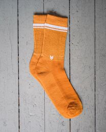 Merino wool Crew Socks, Autumn Gold