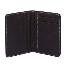 Elk Leather Wallet, Dark Brown