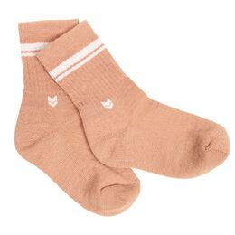 Kids Merino wool Crew Socks, Pink Salmon