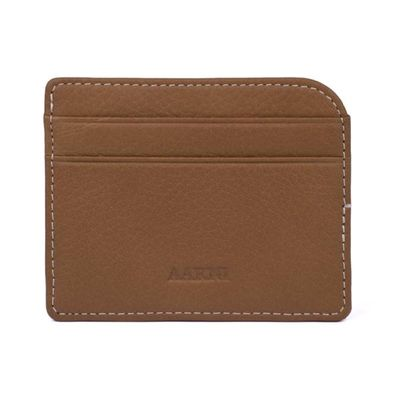 Elk Card Holder, Cognac