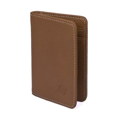 Elk Leather Wallet, Cognac