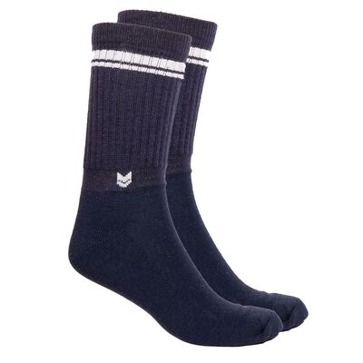 Merino wool Crew Socks, Navy