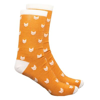 Vai-ko Logo Socks, Autumn Gold