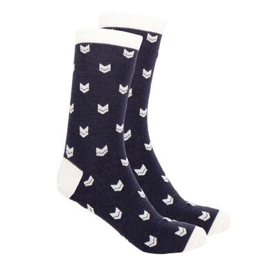 Vai-ko Logo Socks, Navy
