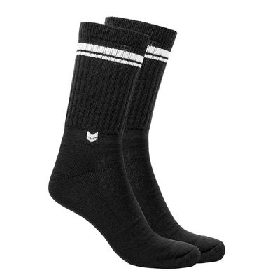 Merino wool Crew Socks, Black