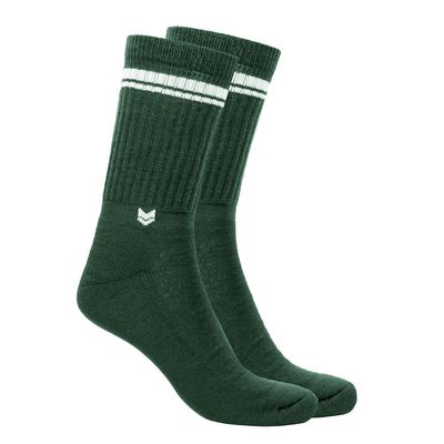 Merino wool Crew Socks, Green