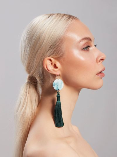 Hibernation Earring, Green