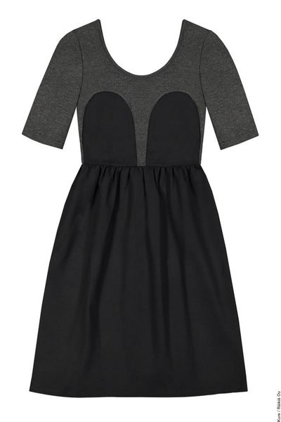 Mickey Tee Dress Dark Grey/Black