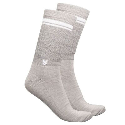 Merino wool Crew Socks, Light Gray