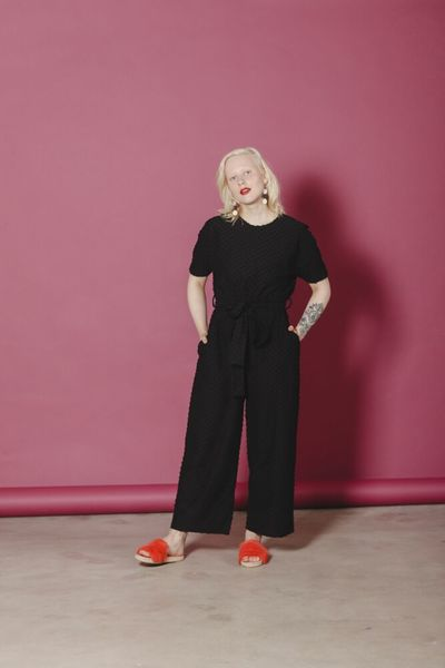 Manuela Jumpsuit, Black Dot
