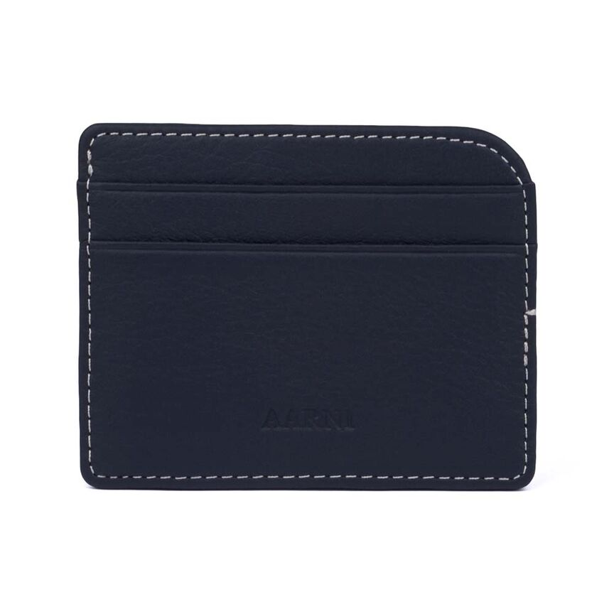 Elk Card Holder, Navy blue